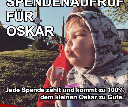 Clubberer 04 spenden 100 € für den kleinen Oskar!